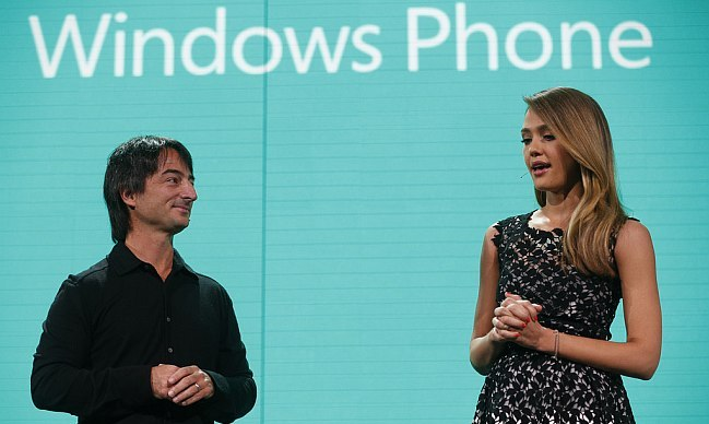 oe Belfiore and Jessica Alba Windows Phone