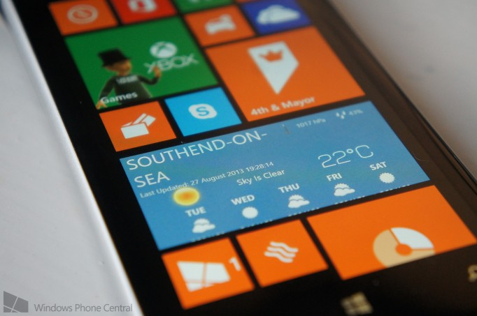 WeatherSense, a fully animated weather app for Windows Phone 8 available
