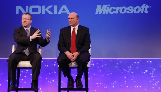 Nokia and Microsoft leaders