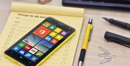 A picture of a yellow Nokia Lumia 625