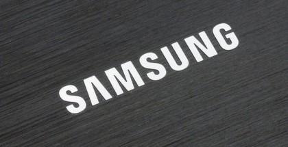 A logo of Samsung