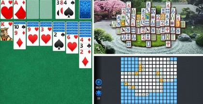 Minesweeper, Solitaire and Mahjong for WIndows Phone