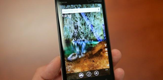Nokia Lumia Bing search