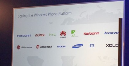 Nine new Windows Phone hardware partners