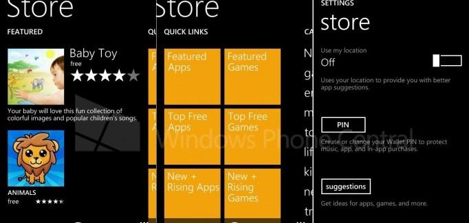 WP8.1 store new app menus and layouts