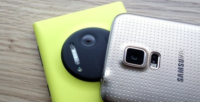 Two flagships - Lumia 1020 vs Galaxy S5