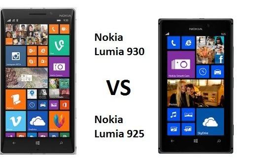 Nokia Lumia 930 vs Lumia 925