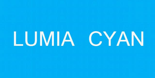 Lumia Cyan update for Windows Phone Lumia smartphones