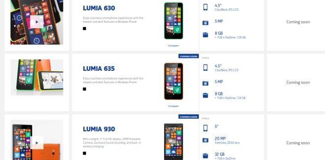 Nokia Lumia 930 and LUmia 630 coming soon to Ireland