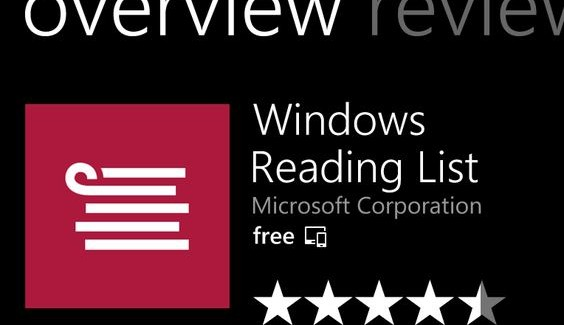 microsoft reading list app