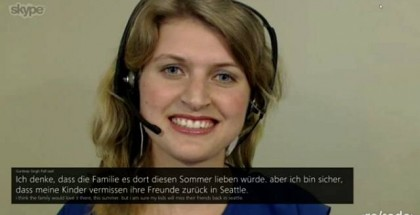 Skype translator demo, Live voice calls translation