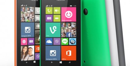 Official Nokia Lumia 530 all colors group shot