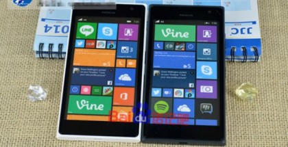 Nokia Lumia 730 front in black and white