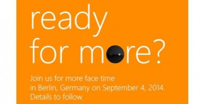 Microsoft IFA 2014 Press invite Sept.4