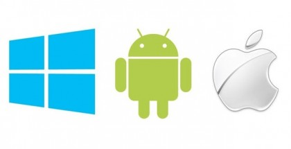 windows vs Android vs iphone ios