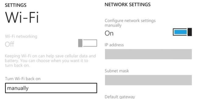 New Lumia firmware enables Static IP addresses for some models