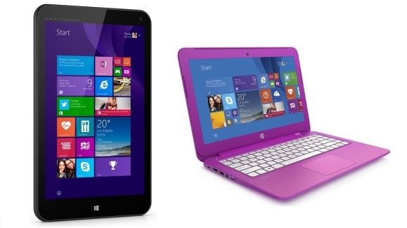 HP stream laptop and tablet