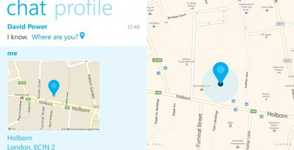 Skype Windows Phone location