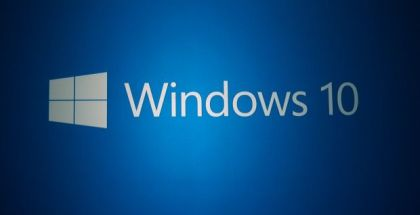 Windows 10 logo in blue