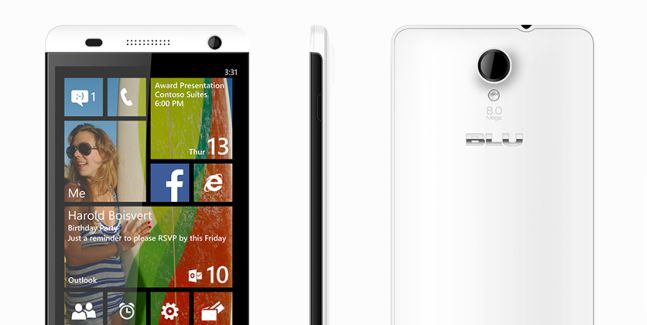 BLU Win HD phone on Windows