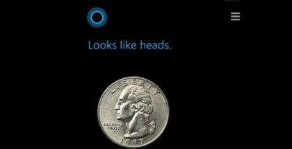 cortana flipping a coin