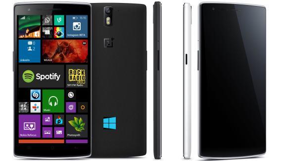 OnepLus One phone running Windows Phone