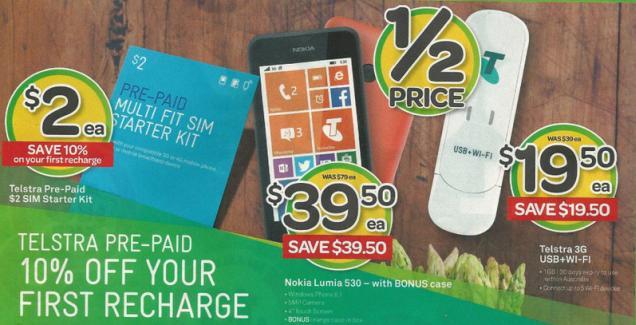 Lumia 530 Nokia by Telstra Australia promotion november 2014