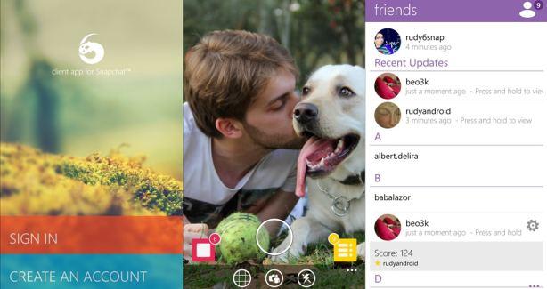 6Snap app screens