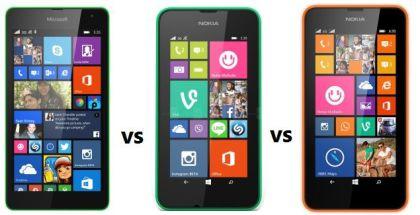 Comparison between Microsoft Lumia 530 vs Lumia 530 and Nokia Lumia 630