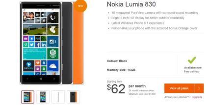 Nokia Lumia 830 on Telstra Australia