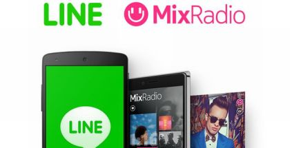 LINE and MIxRadio apps
