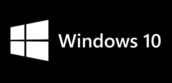 Windows 10 logo black