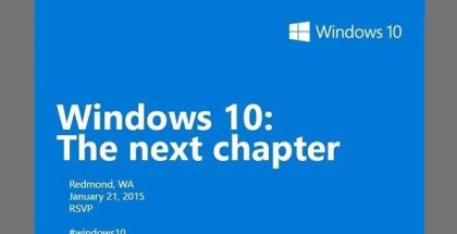 Windows 10 next chapter January 21 2015