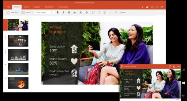 New touch-optimized Office for phones and small tablets