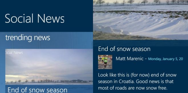 Microsoft's Social News app lets you share local events and articles