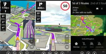 Sygic app for Windows phone