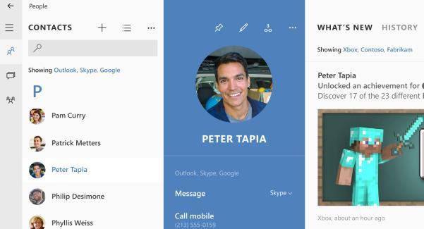 Skype is built into Windows 10