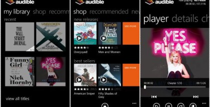 Audible Windows phone app