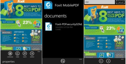 Foxit Reader PDF for WIndows Phone