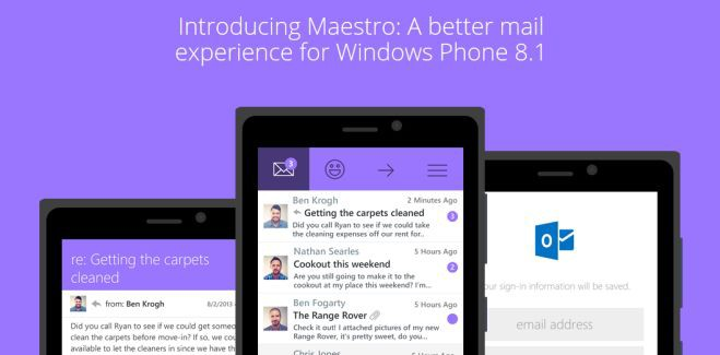 Maestro mail client launches for Windows Phone, free for 24 hours