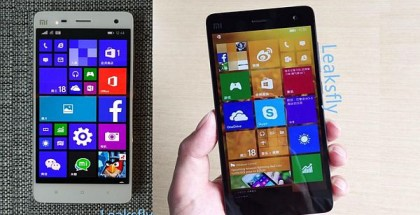 Xiaomi Mi4 running Windows 10