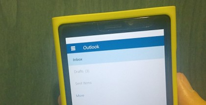 hamburger menu outlook mail for windows 10 mobile
