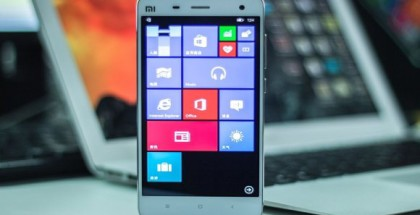 Xiaomi Mi 4 running Windows 10 mobile