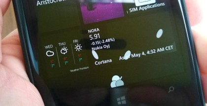Cortana Live Tile windows phone lumia 1020 Nokia
