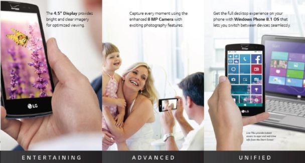 lg lancet promo materials windows phone for verizon