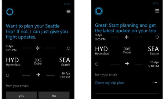 Cortana update adds trip planning and help