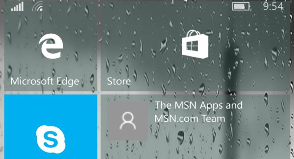 The error when updating system apps for Windows 10 Mobile
