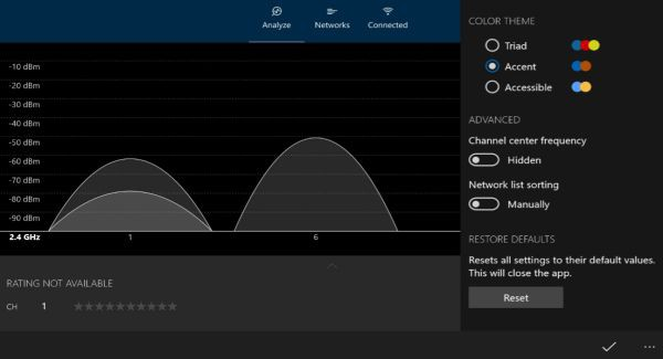 WiFi Analyzer: Universal Windows 10 app available in Preview form