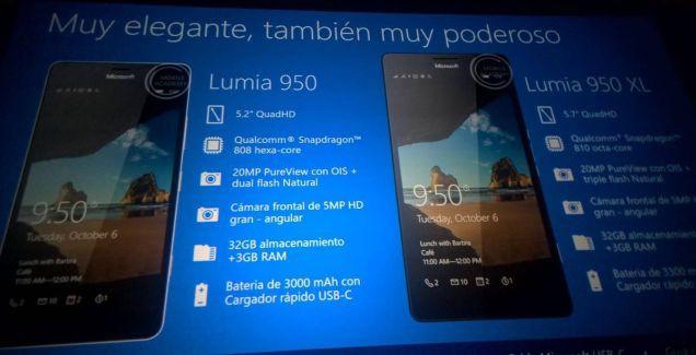 A secret presentation reveals Lumia 550, 950 & 950 XL