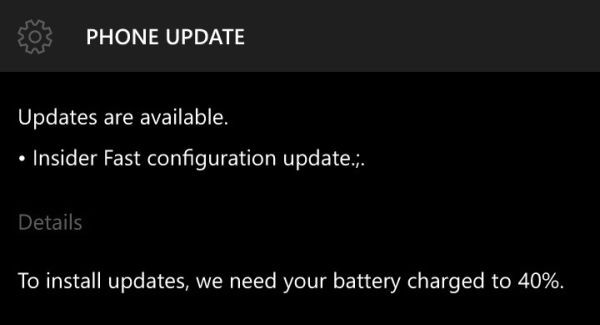 Windows Insider update 10